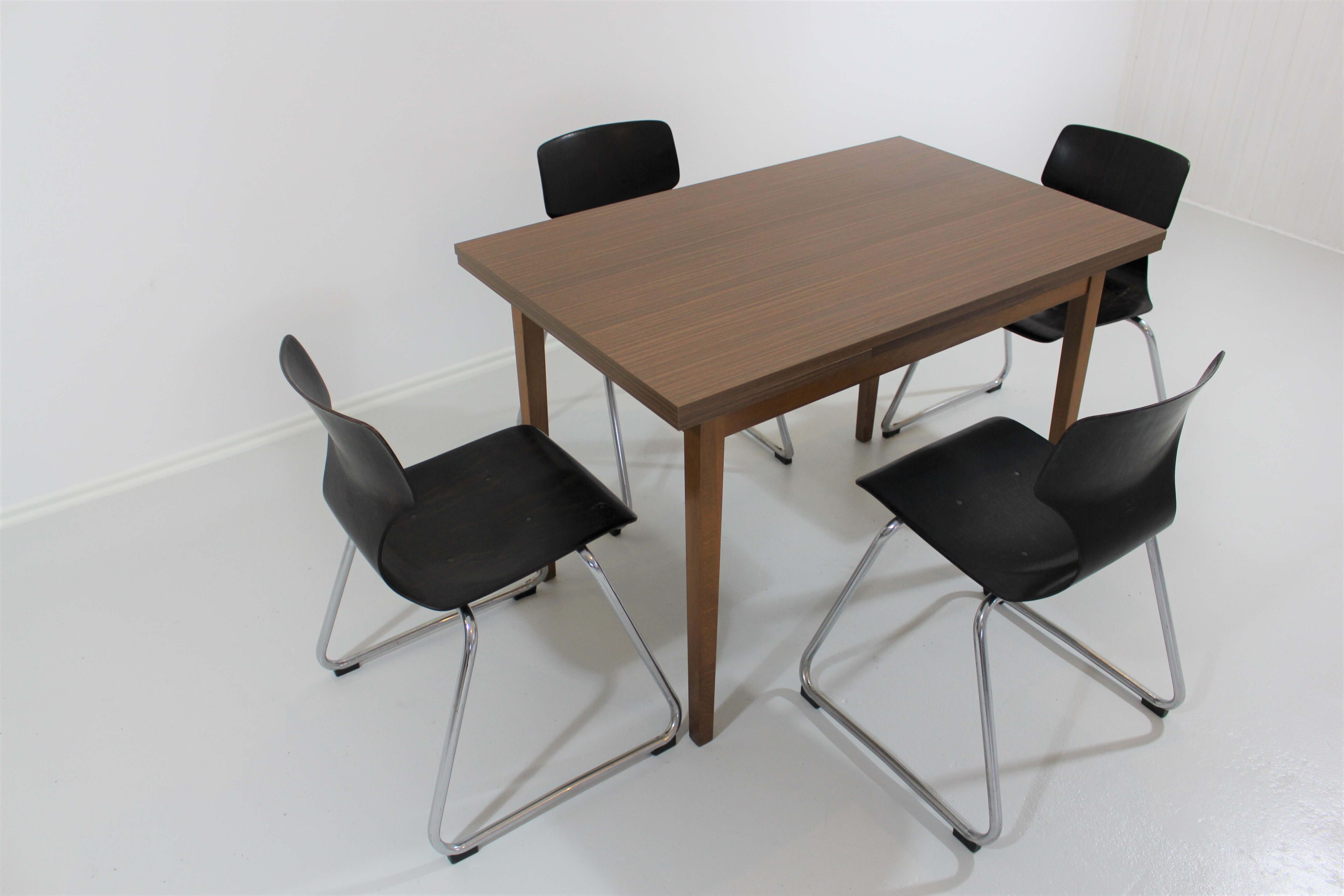 70´s dining table/kitchen table + 4 flötotto chairs - retroclassix